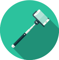 stock-illustration-66382621-flat-design-selfie-stick-icon-with-long-shadow